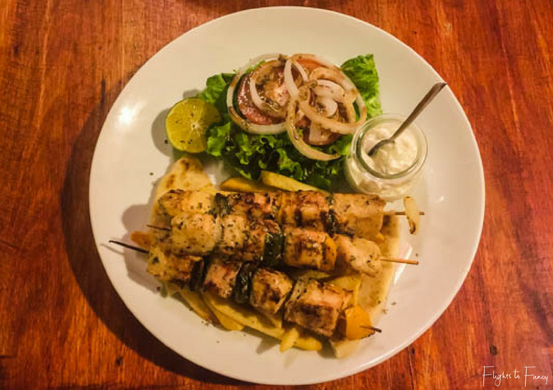 Flights To Fancy: Mix Greek Restaurant Hoi An - Chicken Skewers