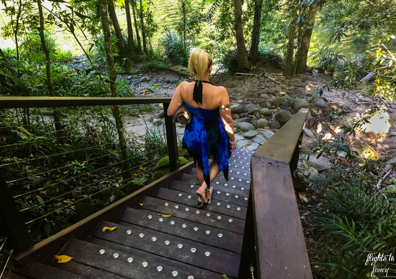 Flights To Fancy: Silky Oaks Lodge Mossman Queensland - Walking Down The Steps