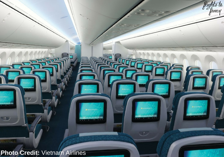 Flights To Fancy: Vietnam Airlines International Economy Class Review - Vietnam Airlines B787 Cabin