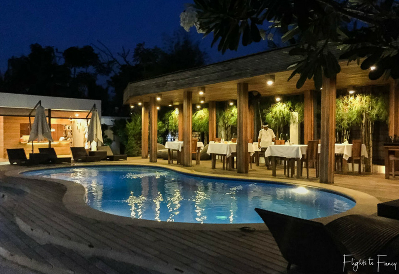 An evening swim beckons at Nero Villa Gili Trawangan