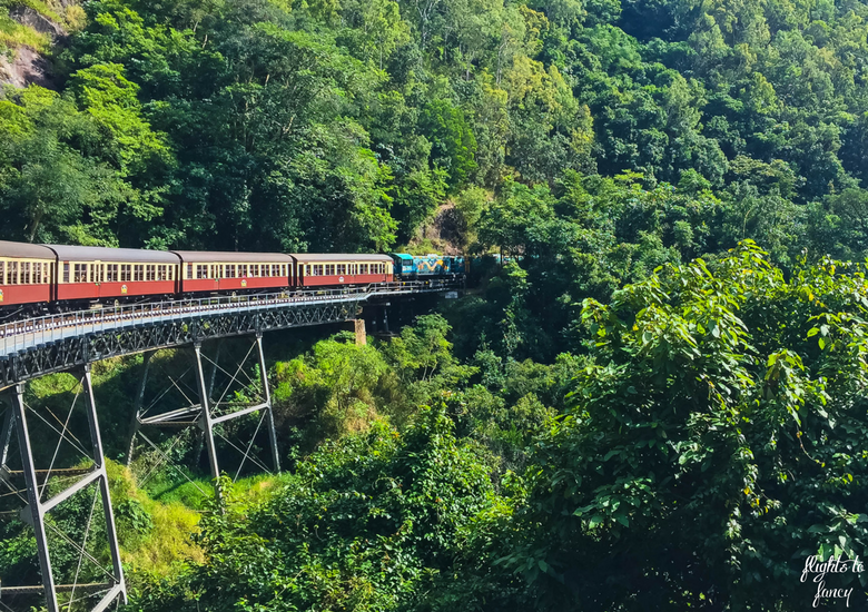 Flights To Fancy: Kuranda Scenic Railway Gold Class - Train On Bridge