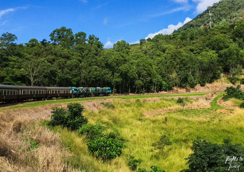 Flights To Fancy: Kuranda Scenic Railway Gold Class - Train on bend