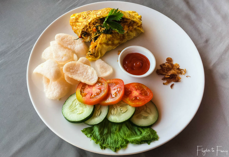 Nasi Goreng breakfast style at Nero Gili Trawangan Villas