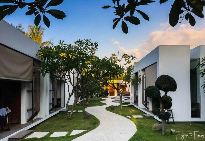 Tropical gardens at our Gili Trawangan Villas