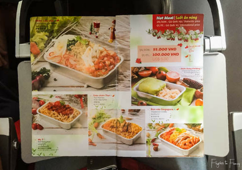 Flights To Fancy: Vietjet Air A320 Domestic Economy - Menu