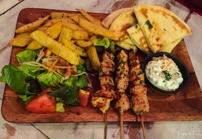 Nostimo Greek Restaurant Seminyak_ Chicken Souvlaki Platter