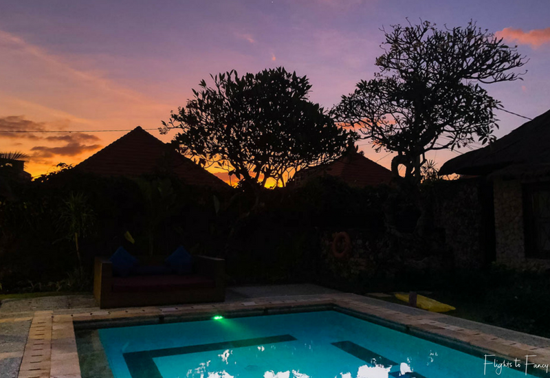 The Club Villas Seminyak: Sunset views from our 3 bedroom villa Seminyak