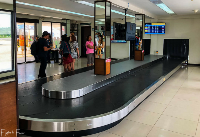 Baggage claim at Boracay Caticlan Airport Arrivals