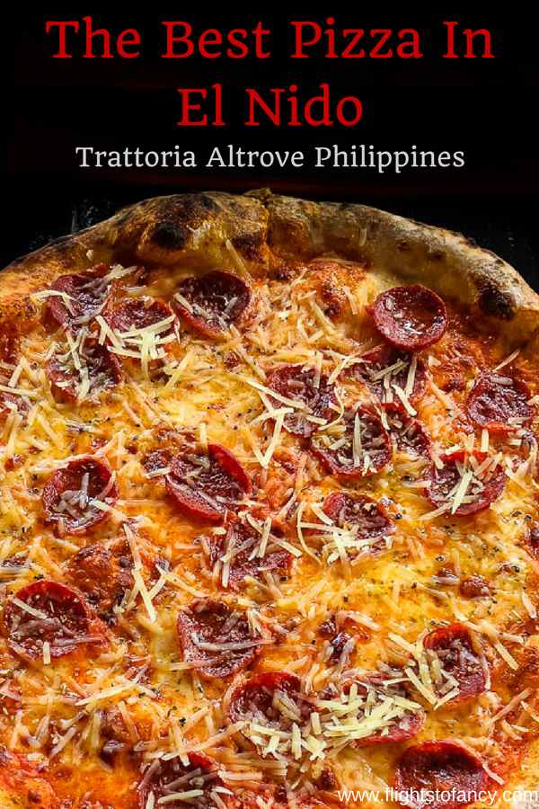 Looking for the best El Nido Pizza? Head straight to Trattoria Altrove El Nido. I loved it so much, I went three times! Read all about it on the blog. #elnido #philippines #palawan #pizza #pizzaelnido