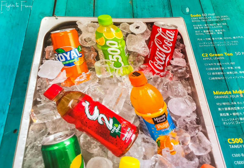 Cebu Pacific International Inflight Drinks Menu