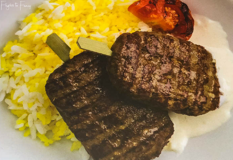 Cebu Pacific International Inflight Menu - Beef Chelo Kebab