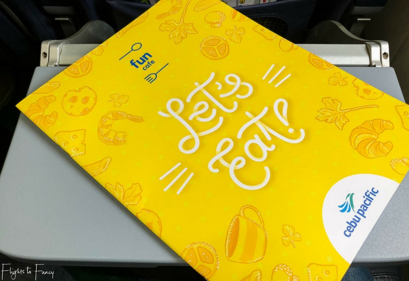 Cebu Pacific International Inflight Menu