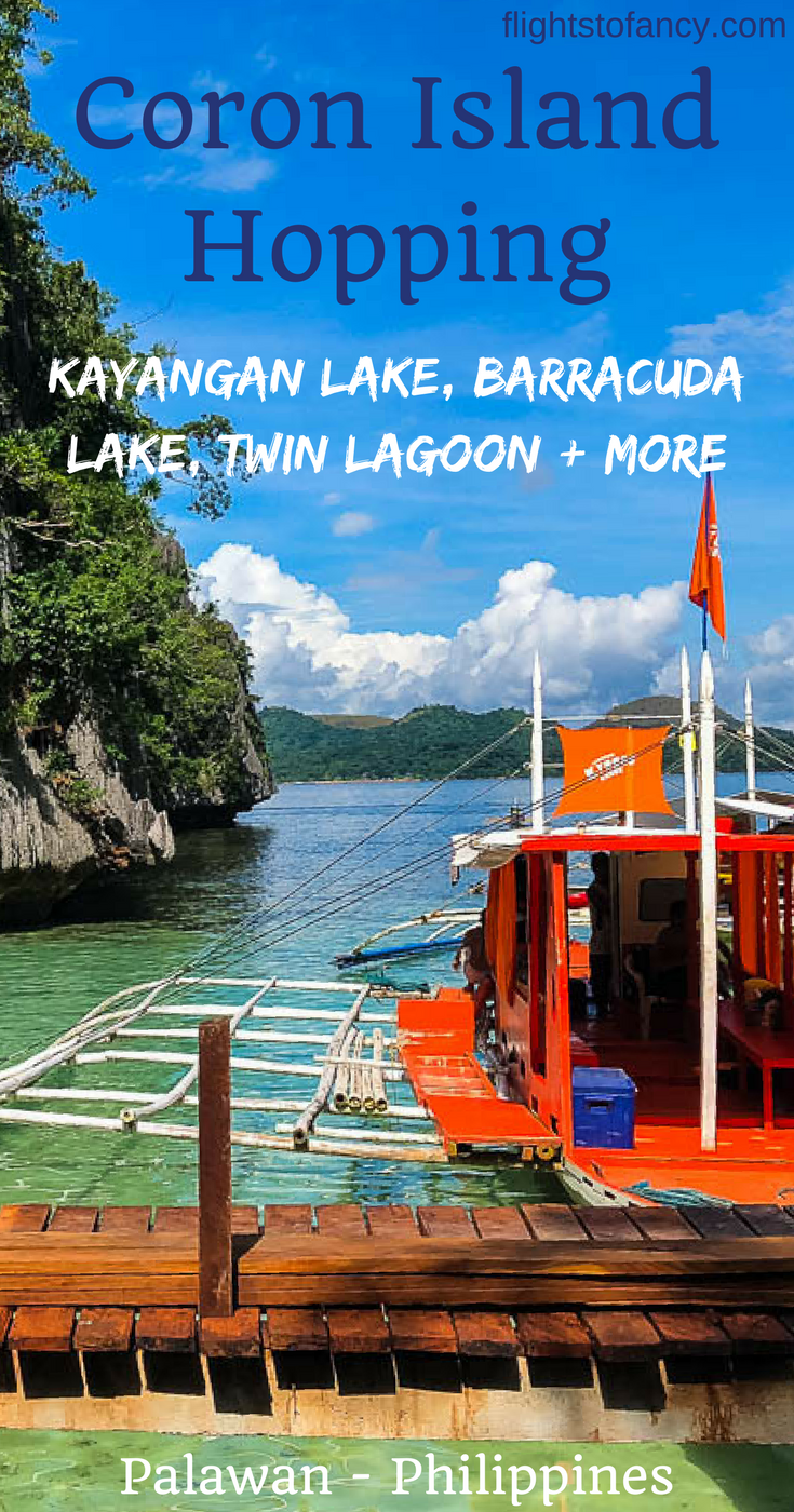 Looking for things to do in Coron? A Coron Island Hopping Tour is a must in Palawan Philippines. We wanted to visit Barracuda Lake Coron, Kayangan Lake Coron, Twin Lagoon Coron (Twin Lagoons Coron) and Twin Peaks Coron but could not find any half day Coron boat tours that covered them all. The solution? Design our own island hopping Coron trip! #Coron #Palawan #Philippines #CoronIslandHopping #BarracudaLake #KayanganLake