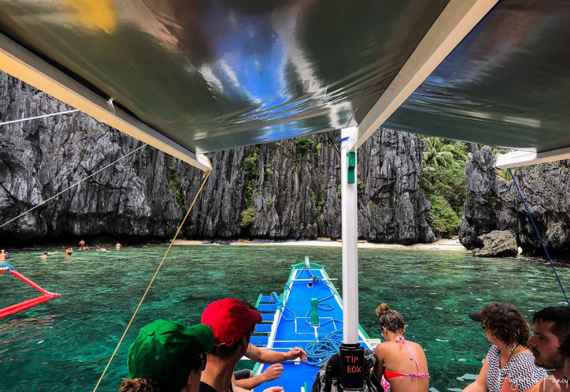 El Nido Tour A - Leaving Secret Lagoon and heading to Shimizu Island for our El Nido snorkeling stop