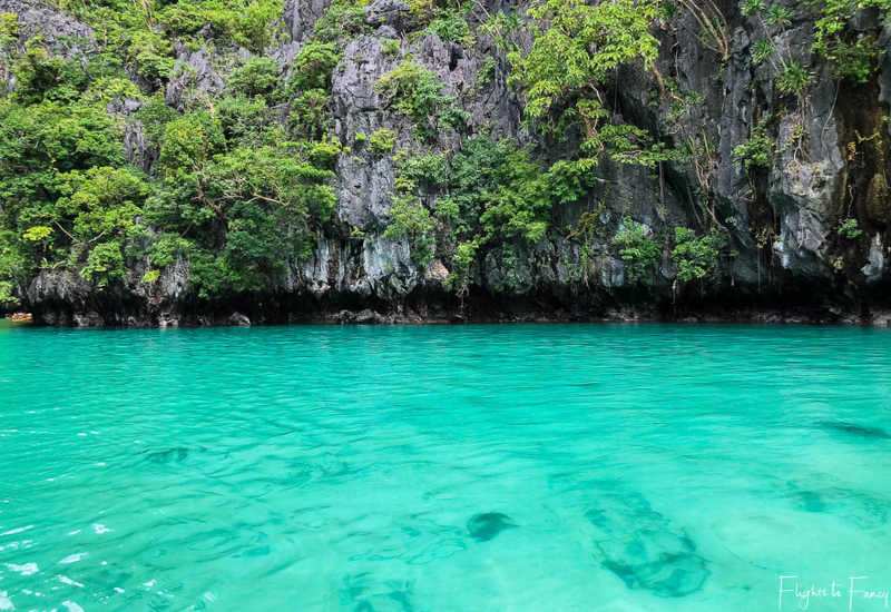 El Nido Tour A - The brilliant crystal clear turquoise water of Small Lagoon El Nido