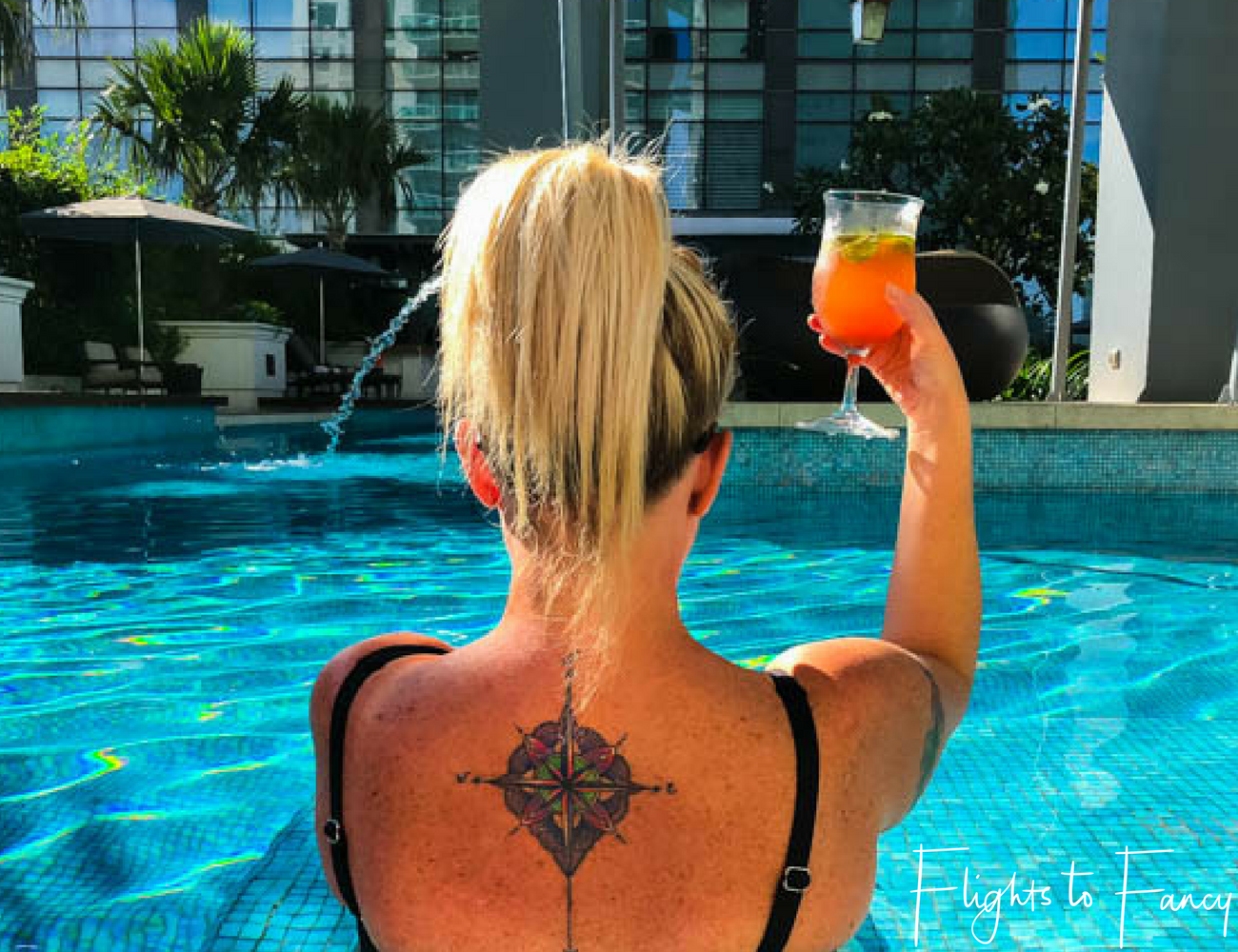 Flights To Fancy @ Raffles Makati - Afternoon cocktails by the pool are my thing. Cheers!