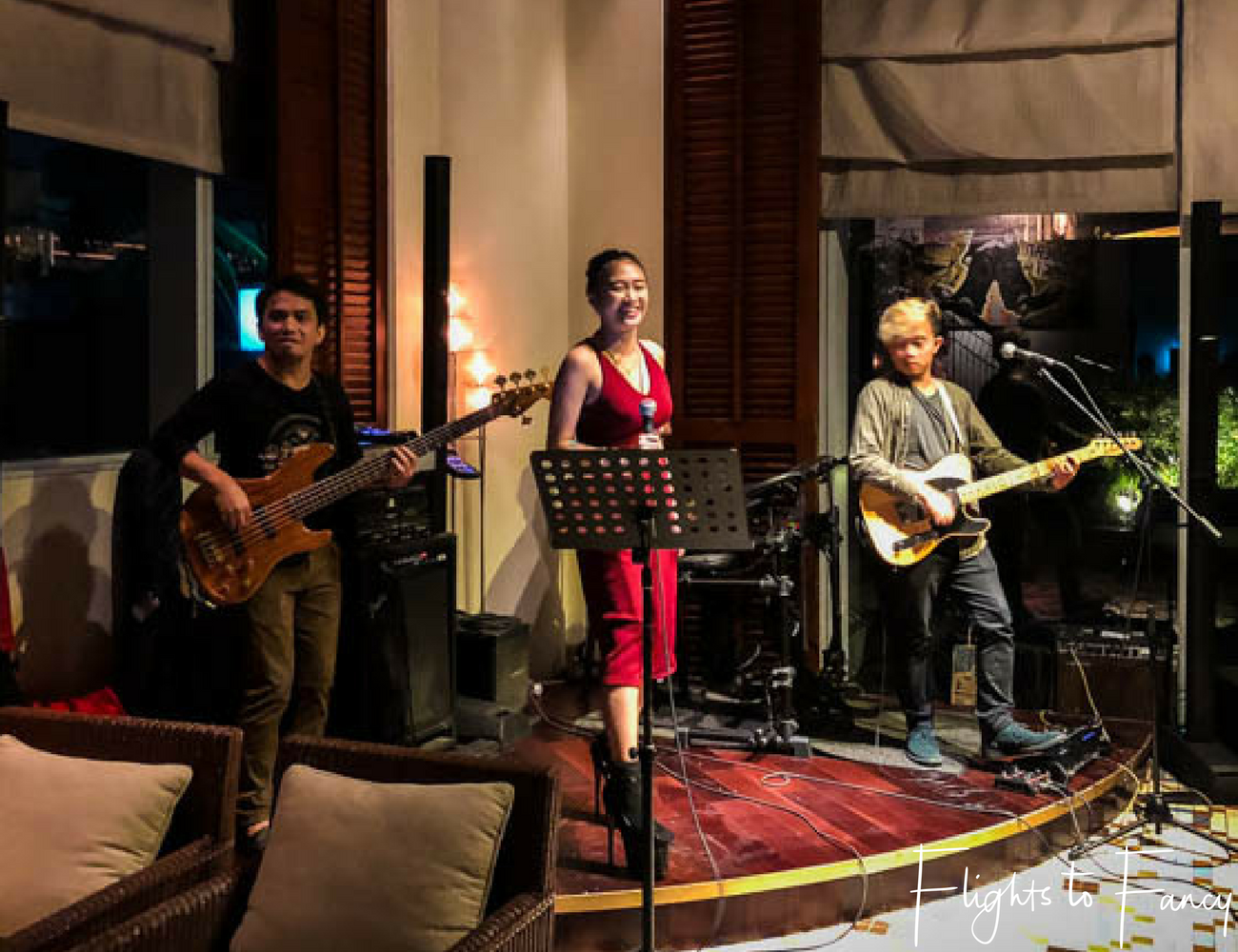 Flights To Fancy @ Raffles Makati Manila - Long Bar band