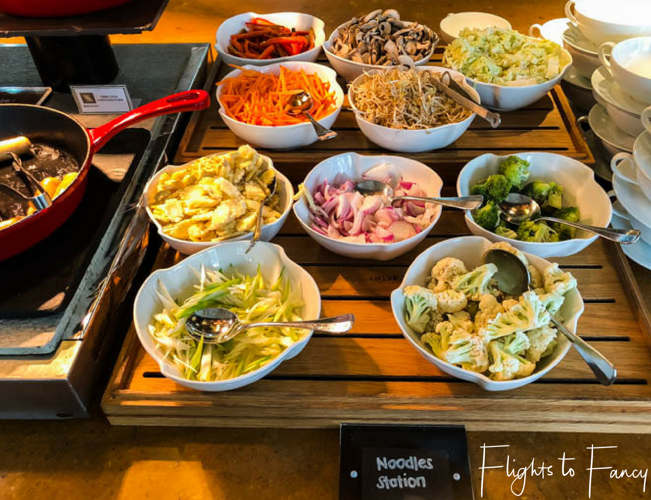 Flights To Fancy @ Raffles Makati Manila - Noodles for breakfast? Why not!