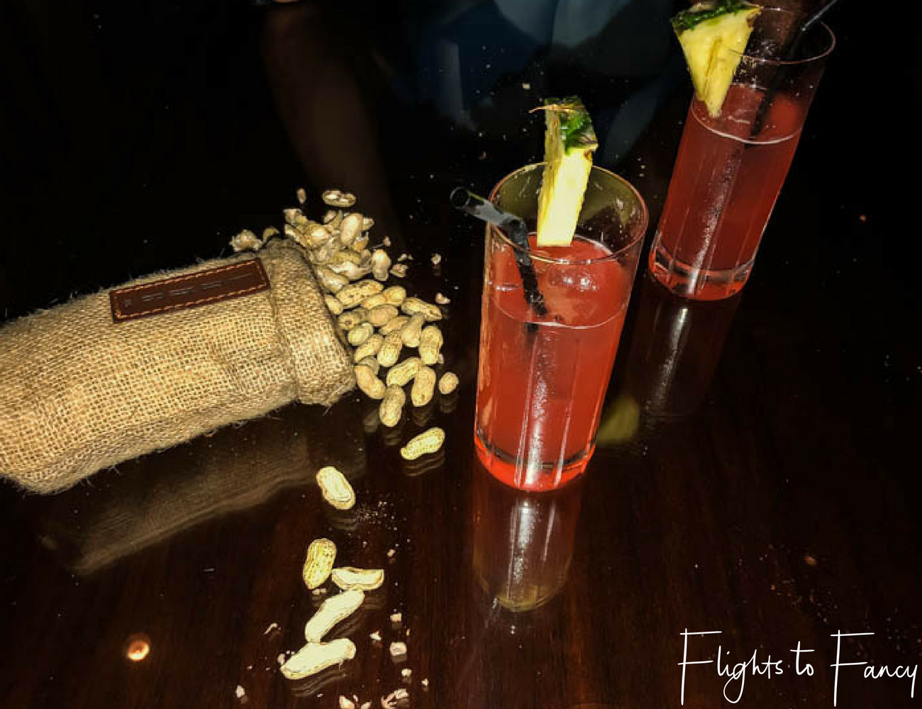 Flights To Fancy @ Raffles Makati Manila - The perfect combination of cocktails and peanuts