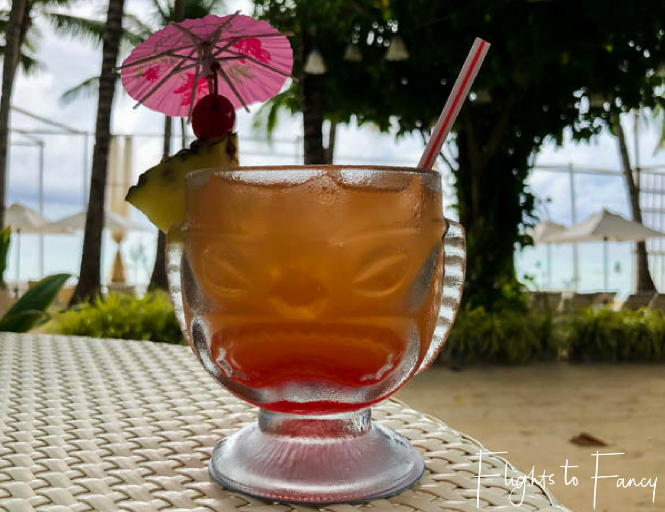 Flights To Fancy at Cha Cha's Boracay - Mai Tai on the beach