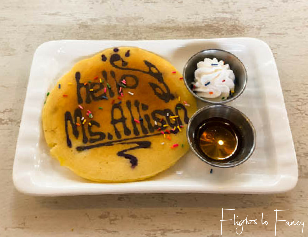 Flights To Fancy at Cha Cha's Boracay - Personalised Pancake
