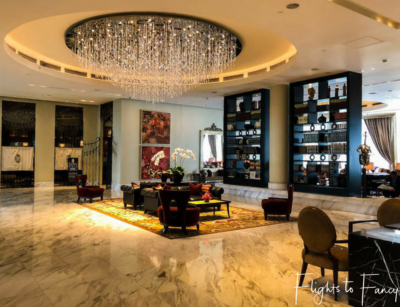 Flights To Fancy at Raffles Makati - The lobby of one of the finest luxury hotels in Manila