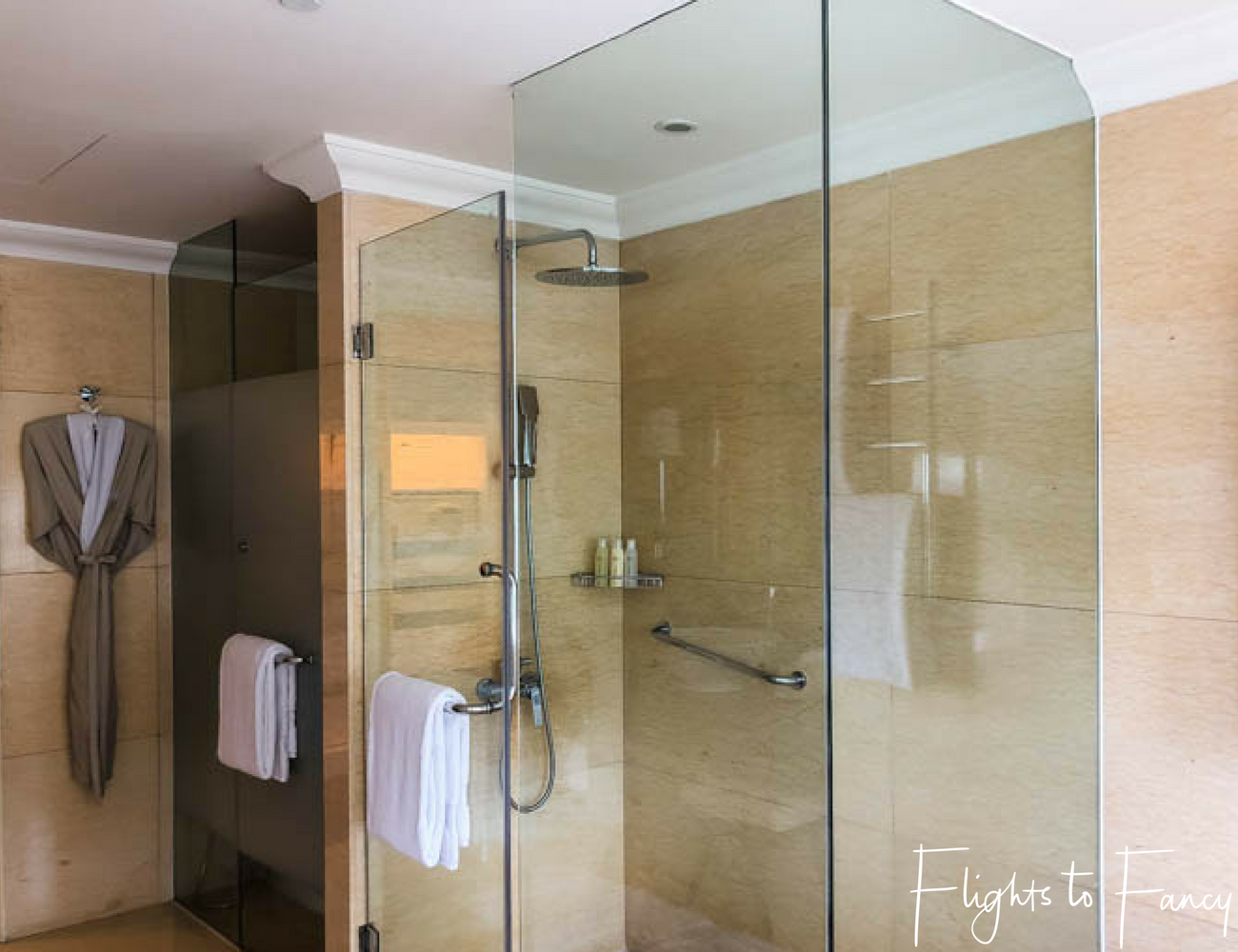 Flights To Fancy at Raffles Manila - The bathrooms are the best in five star hotels in Makati