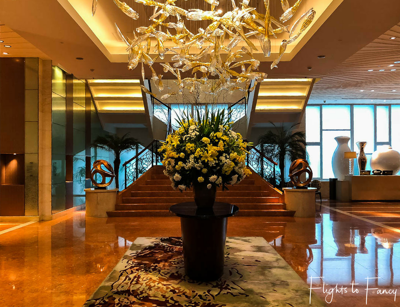 Flights to Fancy - Fairmont Makati Lobby