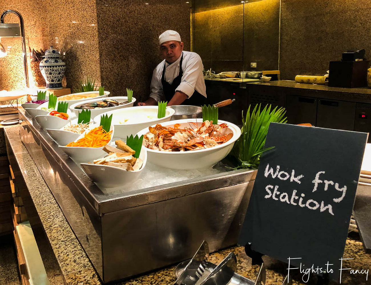 Hotel near SM Cebu City - Radisson Blue Cebu Dinner Buffet Feria Restaurant Wok Fry Station by Flights to Fancy