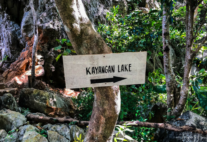 Island Hopping Coron: Kayangan Lake Sign