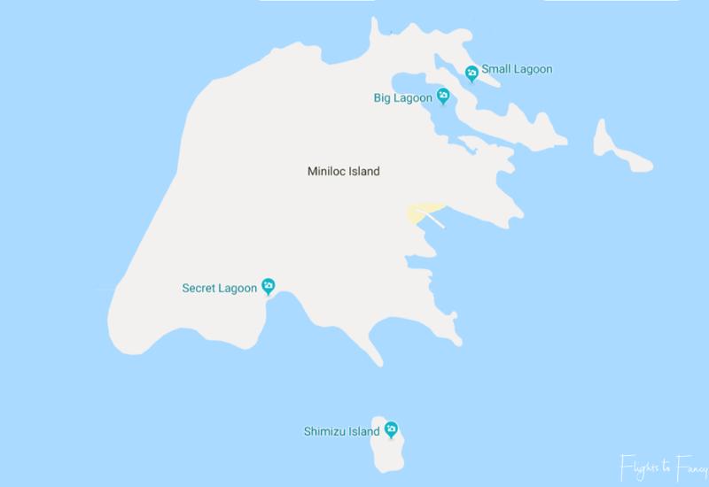 Miniloc Island Map