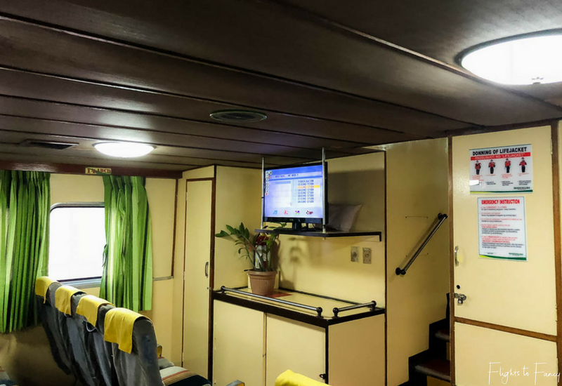 Montenegro Lines Cabin on the El Nido Coron ferry