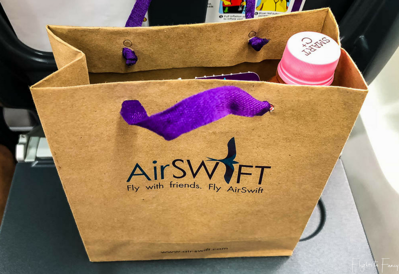 Our AirSWIFT booking came with a packed lunch