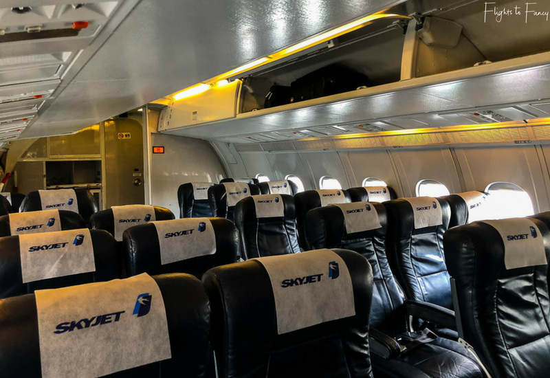 Skyjet Airlines Philippines BAE 146 cabin