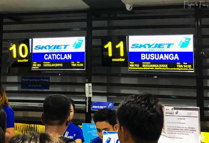 Skyjet check in at Manila to Boracay Caticlan