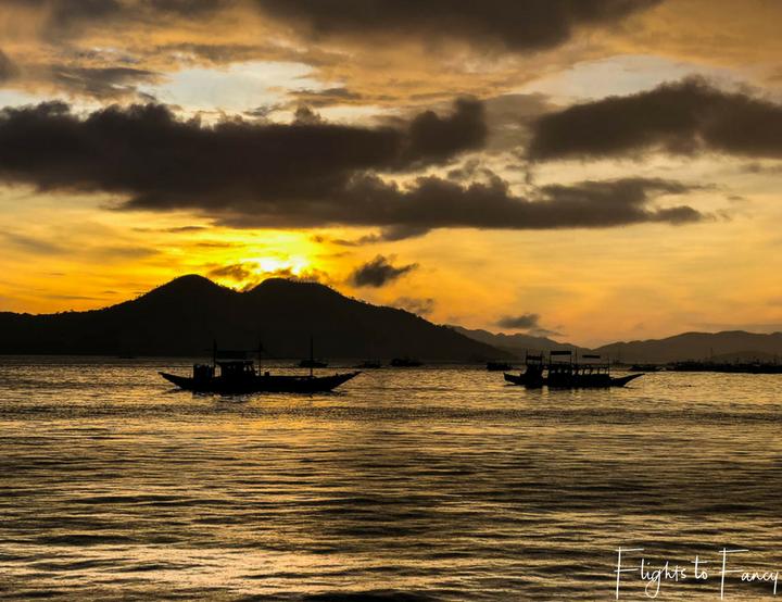 Best Hotel In Coron: Sunset at Sunlight Guest Hotel Coron Palawan