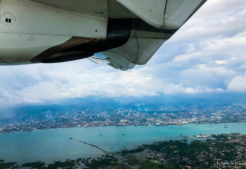 View on take off from Mactan Cebu Airport on our flight from Cebu to El Nido