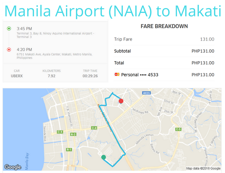 Using Uber In Manila. Uber Manila Airport (NAIA) to Makati
