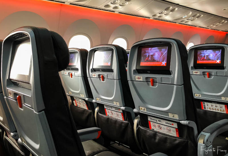 Jetstar Dreamliner Cabin International Flight Jq3 Syd To Hnl