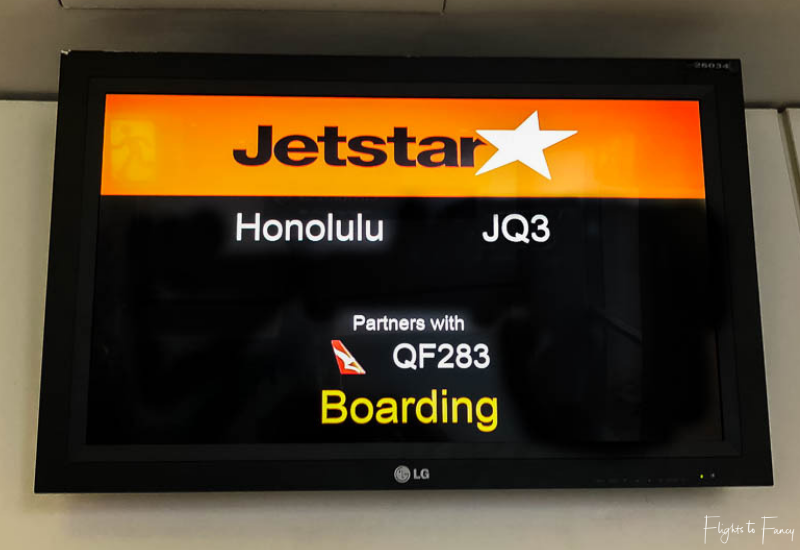 Jetstar JQ3 SYD to HNL Boarding Call