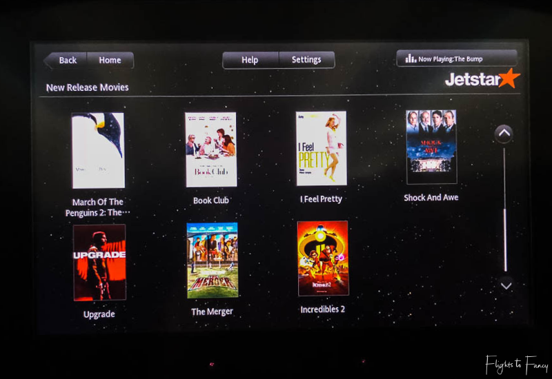 Movies on Jetstar Sydney to Honolulu flight
