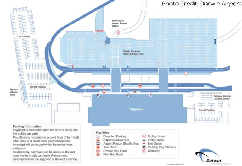 Darwin Airport Transfer: Darwin Airport Map