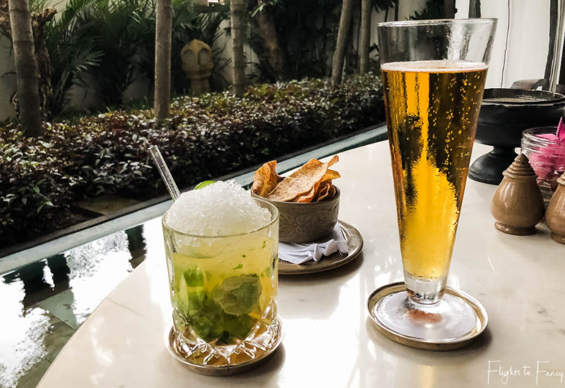 Afternoon drinks at The Living Room Park Hyatt luxury hotel in Siem Reap