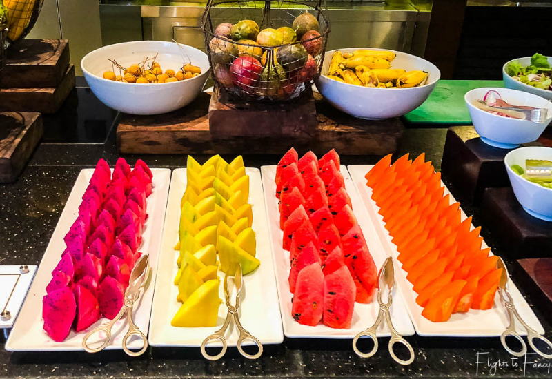 Assorted Fruit on the Siem Reap Breakfast Buffet at Park Hyatt Siem Reap Luxury Hotel