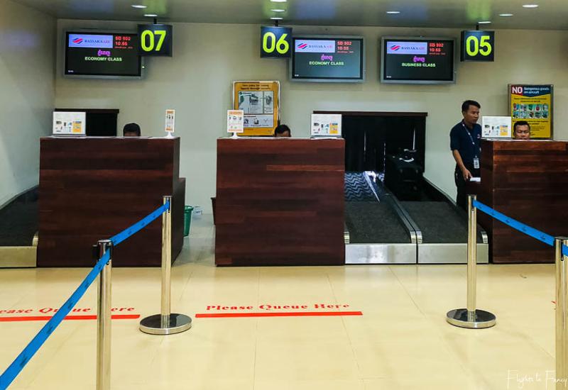 Bassaka Air Review: Check In At Siem Reap Airport