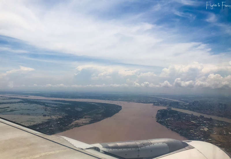 Bassaka Air Review: Coming into land on our flight from Siem Reap to Phnom Pehn