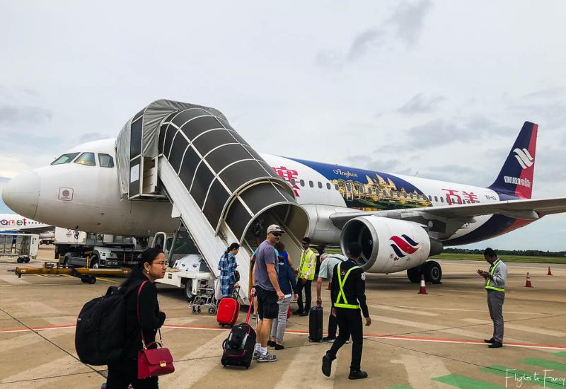 Bassaka Air Siem Reap to Phnom Penh Flights: Boarding flight 5B902