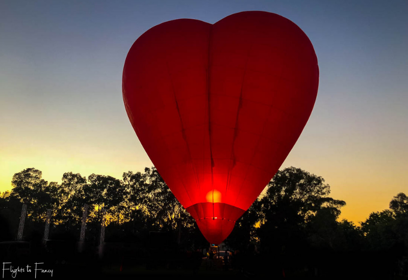 Canberra Balloon Festival Heart Balloon