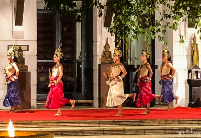 Dancers at Park Hyatt Siem Reap Restaurant