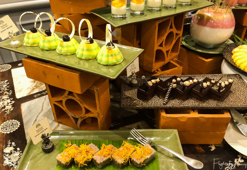 Dessert bar at the premium Buffet brunch Phnom Penh Raffles Hotel Le Royal